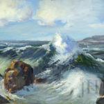 Landscape of Waves Crashing