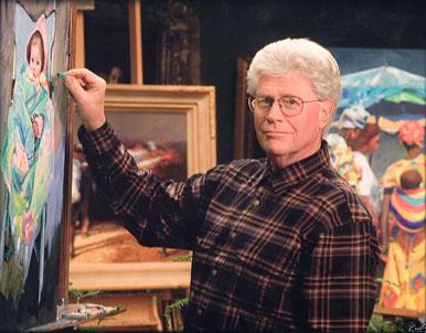 Utah Artist Jerry Hancock painting his next masterpiece